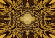 Mystisk kalejdoskopstjärnabakgrund Royaltyfri Bild