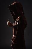 Mystisk katolsk munk Arkivfoto