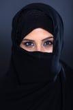 Mystisk Muslimkvinna Arkivfoto