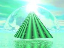 Mystisk pyramid - 3D framför stock illustrationer