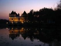 mystisk slottafton Arkivbilder