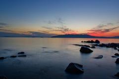 mystisk solnedgång arkivbild