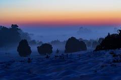 mystisk solnedgång Arkivbilder