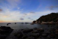 mystisk strand Arkivfoto