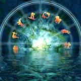 mystisk zodiac Arkivfoton