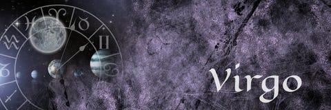 Mystisk zodiakastrologi för Jungfru fotografering för bildbyråer