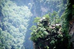 Mystiska berg Zhangjiajie, HUnan landskap i Kina Fotografering för Bildbyråer