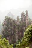 Mystiska berg Zhangjiajie, HUnan landskap i Kina Royaltyfri Fotografi