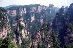 Mystiska berg Zhangjiajie, HUnan landskap i Kina Royaltyfri Foto
