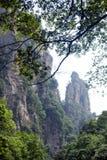 Mystiska berg Zhangjiajie, HUnan landskap i Kina Arkivfoto