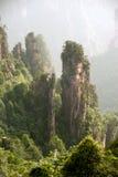 Mystiska berg Zhangjiajie, HUnan landskap i Kina Royaltyfria Bilder