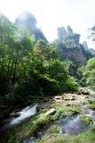 Mystiska berg Zhangjiajie, HUnan landskap i Kina Royaltyfri Bild