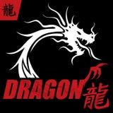 Mystiska Dragon Design Concept Arkivbild