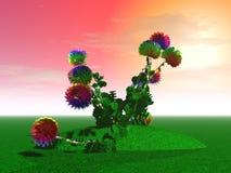 Mystiska enorma blommor Arkivbilder