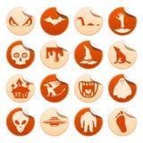 Mystiska och fasaklistermärkear stock illustrationer