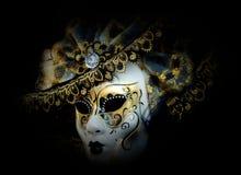 Mystiska venetian maskerar royaltyfri foto
