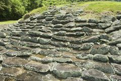 Mystiskt fördärvar av Guayabo de Turrialba, Costa Rica royaltyfri foto