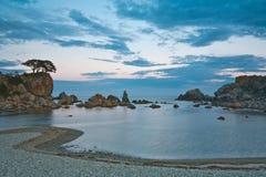 mystiskt hav för afton Arkivfoto