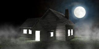 mystiskt hus Royaltyfri Bild
