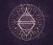 Mystiskt ockult symbol royaltyfria bilder