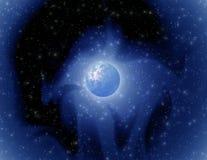 mystiskt planet royaltyfri illustrationer