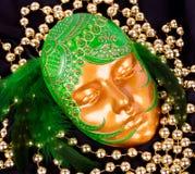 mystiskt venetian för karnevalmaskering Royaltyfria Bilder