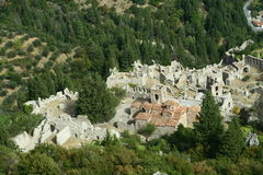 Mystra. Panorama in Peloponesse Greece Stock Images
