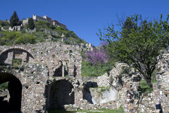 Mystras Byzantine fortified town - Greece Stock Photography
