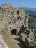 Mystras Castle Royalty Free Stock Photography