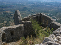Mystras Castle Stock Photo