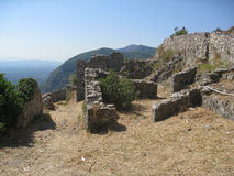 Mystras Castle Stock Photography