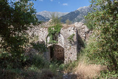 Mystras Castle Royalty Free Stock Photo