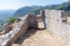 Mystras Castle Royalty Free Stock Photos