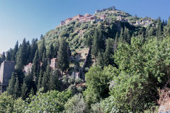 Mystras Castle Royalty Free Stock Image