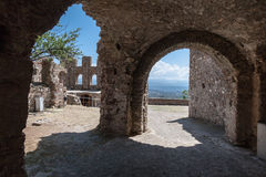 Mystras Convent Ruins Greece Royalty Free Stock Photo