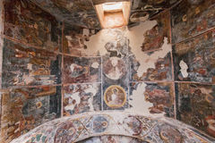Mystras Frescoes Byzantine Church Stock Images