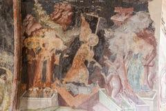 Mystras Frescoes Byzantine Church Royalty Free Stock Images