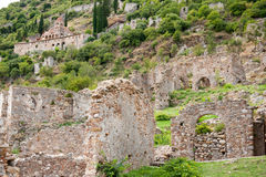 Mystras in Greece Royalty Free Stock Photo
