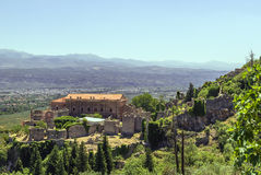 Mystras, Greece. Despot Palace at Mystras archaeological site, Greece Stock Photography