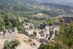 Mystras greece destination Royalty Free Stock Photo