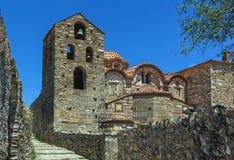 Mystras, Greece. Saint Dimitrios Orthodox Metropolis at Mystras archaeological site Stock Photo