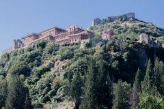Mystras Grekland Arkivfoto