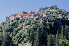 Mystras Griechenland Stockfoto