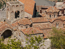 Mystras. The historic city of Mystras in Peloponnese Royalty Free Stock Photo