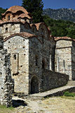 Mystras Landscape. Mystras is a fortified town situated on Mt. Taygetos, near ancient Sparta, it served as the capital of the Byzantine Despotate of the Morea in Royalty Free Stock Image