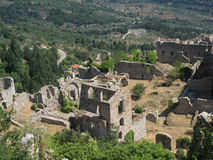 Mystras Landscape Stock Photo