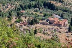 Mystras-Landschaft Stockbild