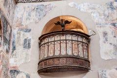 Mystras metropolispredikstol Grekland Royaltyfria Foton