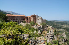 Mystras' Palace Stock Photos