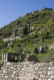 Mystras - Pantanassa Monastery and the Castle Stock Photo